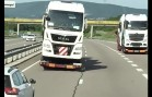 Crazy truck drivers !!