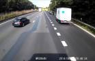 Car vs truck crash E40 Aalter (Belgium)