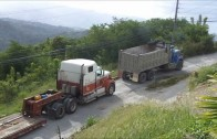 International 9300 Skidding Up Hill With A Lowbow]