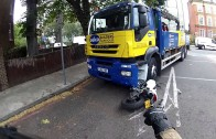 Lorry wipes Ducati Monster out…CRASH!