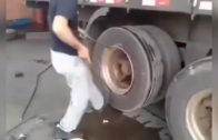 How to fast change tire on a truck