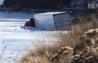 How to recover a semi from a frozen lake