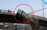Best truck falls off bridge compilation