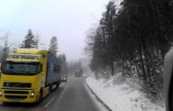 Enjoy the ride… snow, high wind, and at the end a fallen tree over another truck