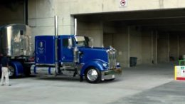 Trucks Leaving The Great American Trucking Show