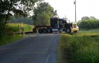 One tight spot…stuck between a truck and a hard spot