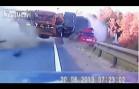 Fatal head on collision deadly high speed car crash