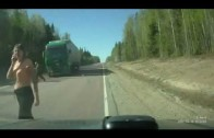 Head-On Collision Of A Truck And A Car