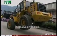 One construction truck dancing in GANGNAM style
