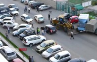 Drunk driver rams wheeled cars