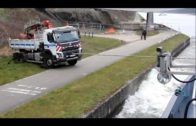 Stuck Truck Saved By Ship !